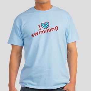 I heart (love) Swimming Light T-Shirt