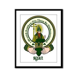Ryan Clan Motto Framed Print