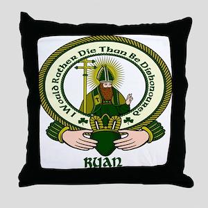 Ryan Clan Motto Throw Pillow