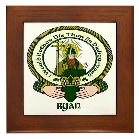 Ryan Clan Motto Framed Tile