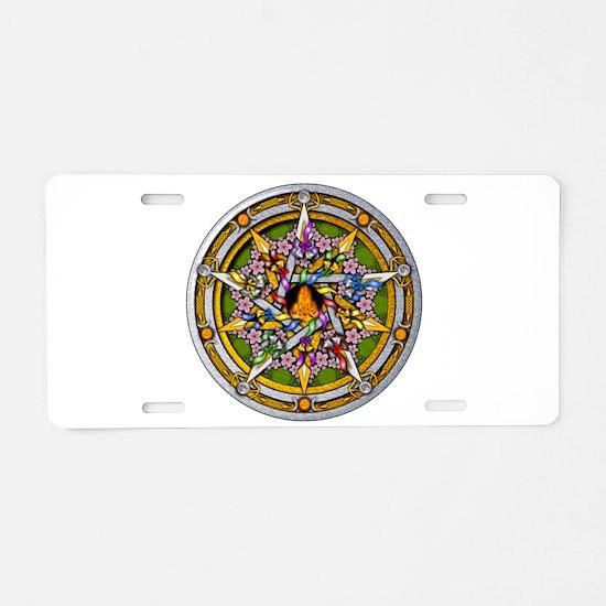 Beltane Pentacle Aluminum License Plate