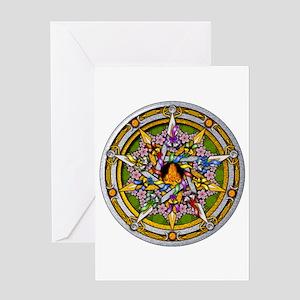 Beltane Pentacle Greeting Card