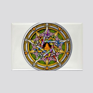 Beltane Pentacle Rectangle Magnet
