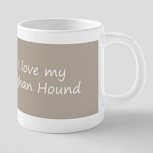 Afghan Hound 20 oz Ceramic Mega Mug