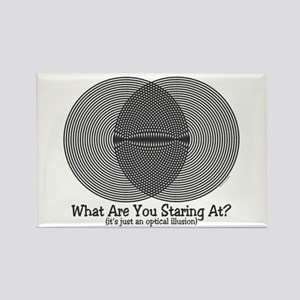 Funny Illusion 2 Rectangle Magnet