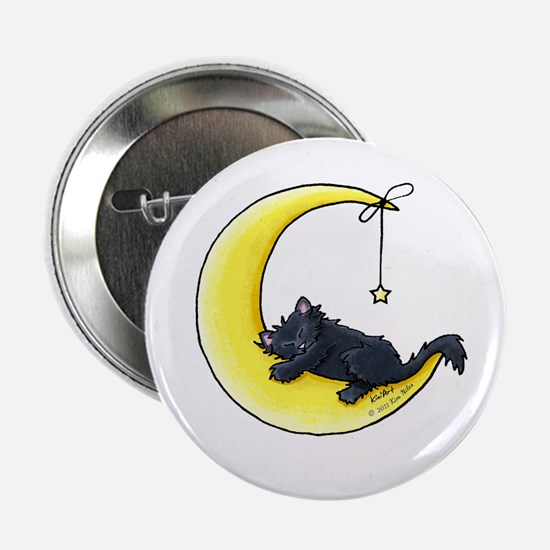 "Black Kitty Lunar Love 2.25"" Button"