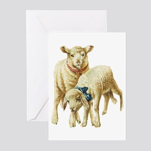 Lamb drawing Greeting Cards (Pk of 10)