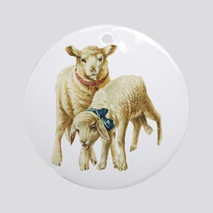 Lamb drawing Ornament (Round)