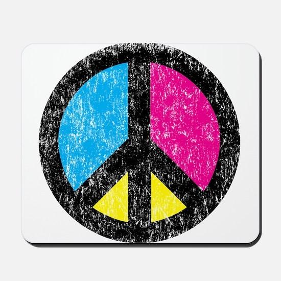 Peace Sign Vintage Mousepad