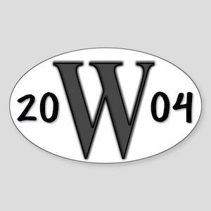W in 2004 Pro-Bush Oval Sticker