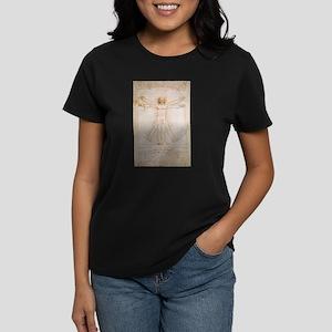 Vitruvian Man Women's Dark T-Shirt