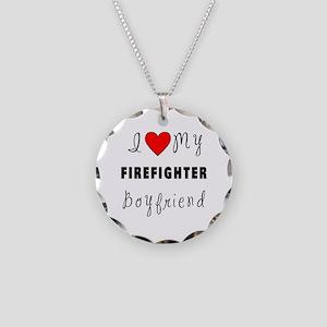Firefighter Boyfriend Necklace Circle Charm