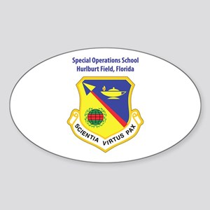 Special Operations School Oval Sticker