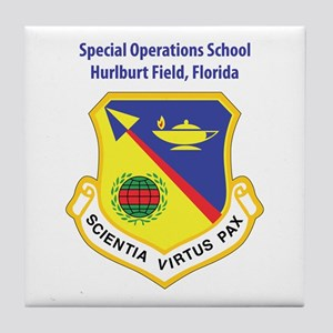 Special Operations School Tile Coaster