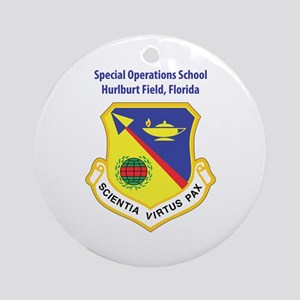 Special Operations School Ornament (Round)
