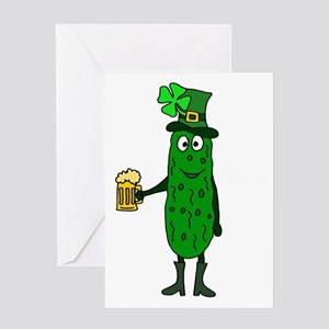 Pickle St. Patrick's Day Greeting Cards