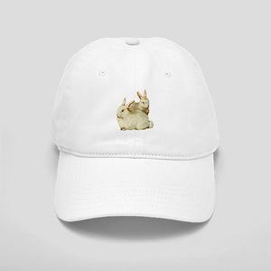 Two White Bunnys Cap