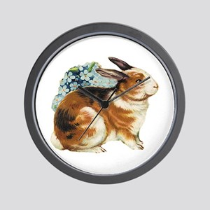 Brown & White Rabbit Wall Clock