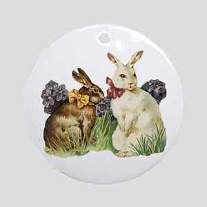 Easter Bunnys Ornament (Round)