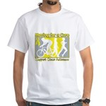 Bladder Cancer Moving Cure White T-Shirt