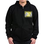Bladder Cancer Moving Cure Zip Hoodie (dark)