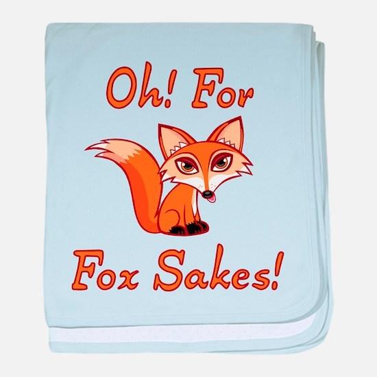 Oh! For Fox Sakes! baby blanket