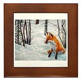 Winter animals Framed Tiles