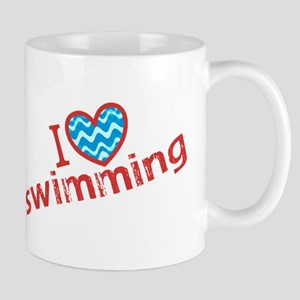 I heart (love) Swimming Mug