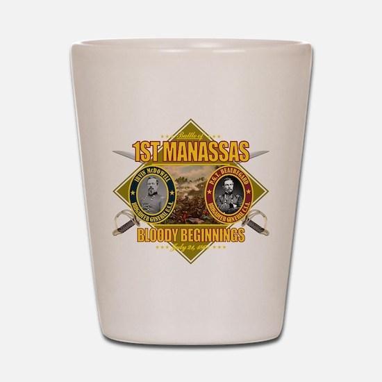 1st Manassas Shot Glass