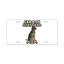 German Shepherd Mom Aluminum License Plate
