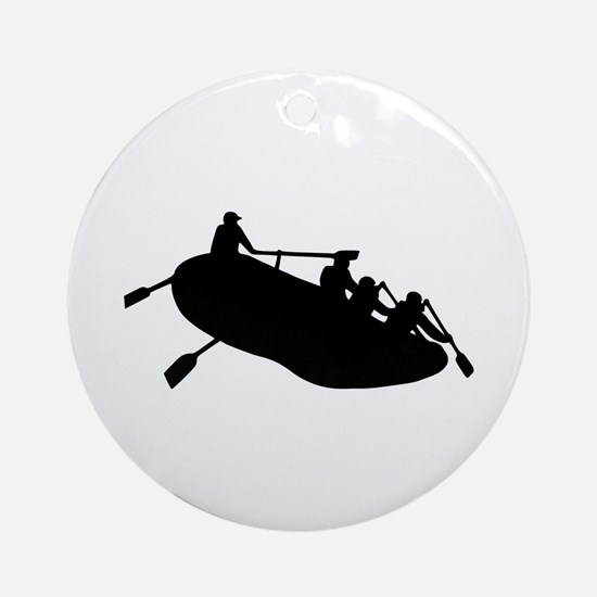 Rafting Ornament (Round)