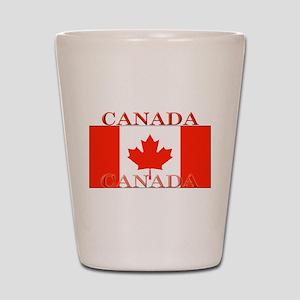 Canada Canadian Flag Shot Glass