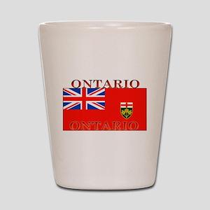 Ontario Ontarian Flag Shot Glass