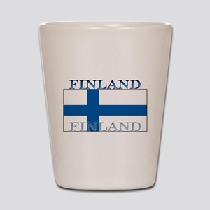 Finland Finish Flag Shot Glass