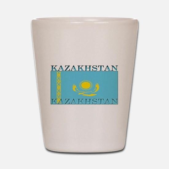 Kazakhstan Kazakhstani Flag Shot Glass