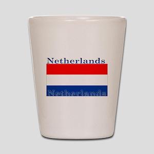 Netherlands Dutch Flag Shot Glass