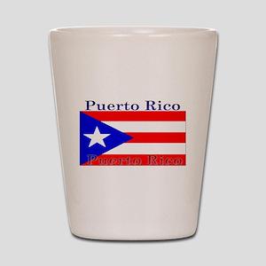 Puerto Rico Rican Flag Shot Glass