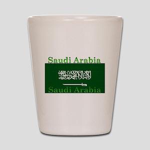 Saudi Arabia Arabian Flag Shot Glass