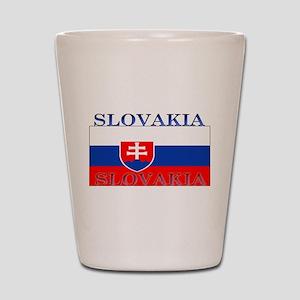 Slovakia Slovak Flag Shot Glass