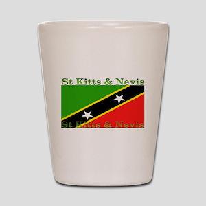 St Kitts & Nevis Shot Glass