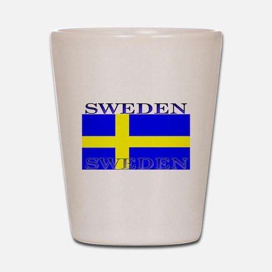 Sweden Swedish Flag Shot Glass