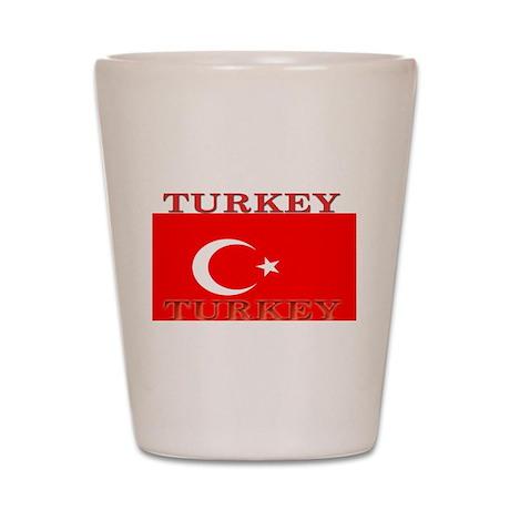 Turkey Turkish Flag Shot Glass