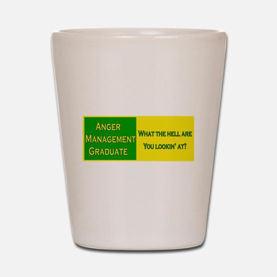 Anger Management Funny Shot Glass