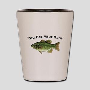 You Bet Your Bass Shot Glass