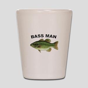 Bass Man ( Ass Man ) Fishing Shot Glass