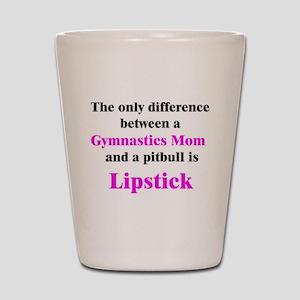 Gymnastics Mom Pitbull Lipsti Shot Glass