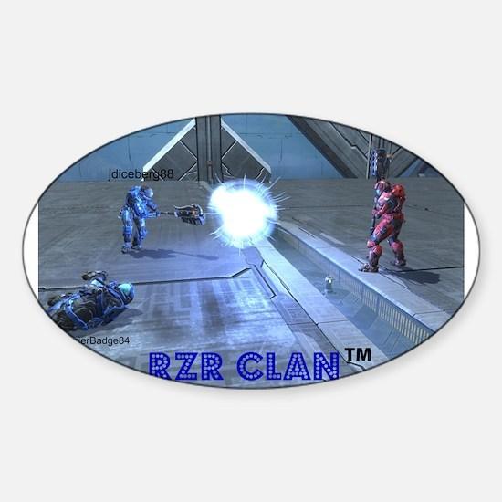 Cute Rzr Sticker (Oval)