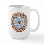 April Rain Mandala Large Mug