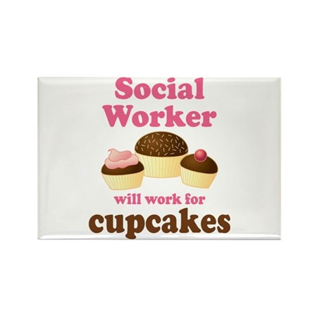 Funny Social Worker Rectangle Magnet