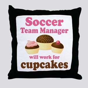 Funny Soccer Team Manager Throw Pillow